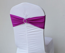Purple Chair bands for event decoration