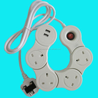uk power strip extension cable,uk receptacle,uk home surge protector extension