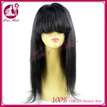 """16""""better lace front hair wigs for women jet black #1hair extensions free sample in time shipping straight hair with bangs"""