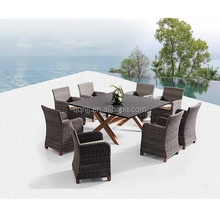 luxury rattan garden furniture wicker weave outdoor patio sofa table & chair set