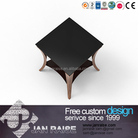Alibaba supplier cheap glass top high gloss good quality wood coffee tables