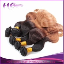 New products unprocessed two tone hair extension top quality 1b 27 ombre color hair