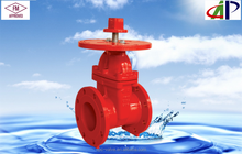 FM UL Fire Protection 200PSI NRS Type Flanged End Gate Valve With Round Plate