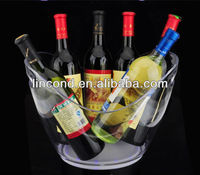 plastic bottle holder for 6 bottles, led ice bucket wine holder