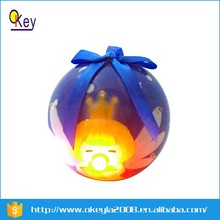 Flashing music toy led plastic christmas ball light for kid