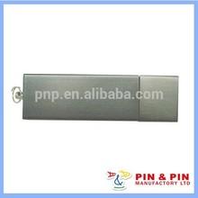 memoria usb níquel de placa cuadrada personalizada de aleación de zinc blanco