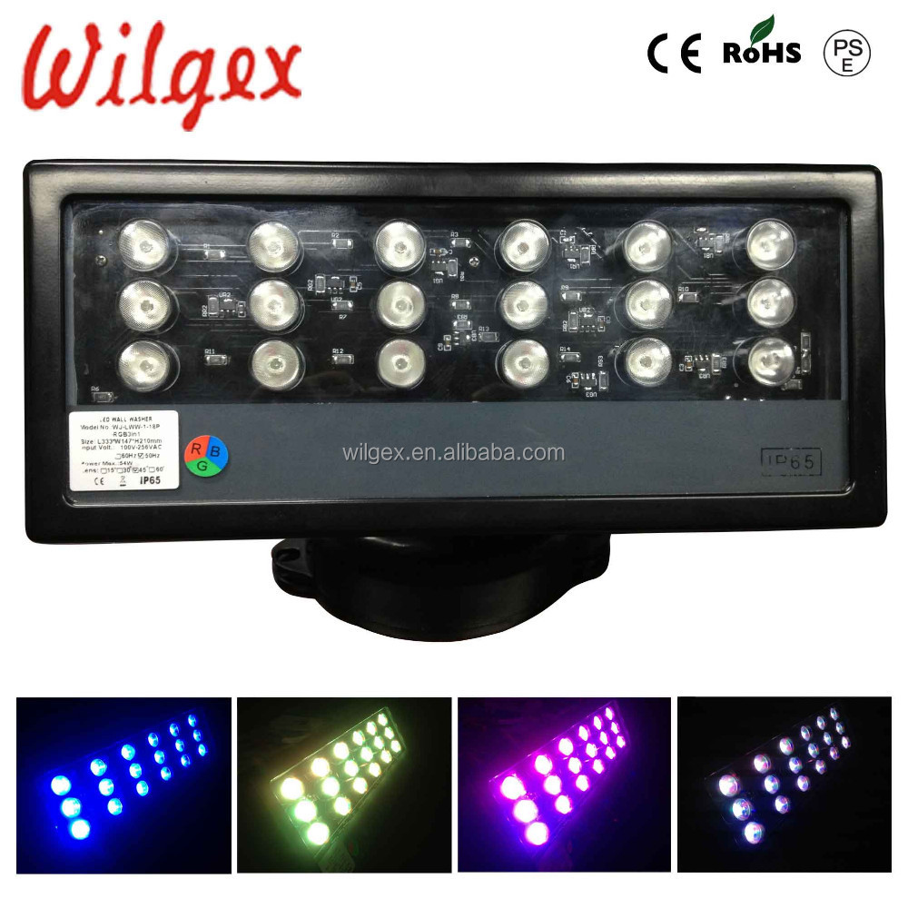 outdoor 18x3w rgb 3in1 led wall washer pixel bar light. Black Bedroom Furniture Sets. Home Design Ideas