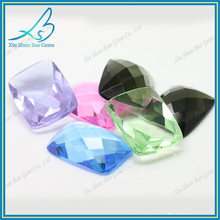 Wuzhou Gemstone Hub wholesale flat back colored glass loose gems