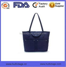 High quality fashion bags for girls waterproof waxed canvas shoulder bag