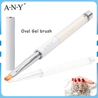 ANY New Pearl Handle Nail Design Care Products Oval Brush
