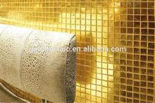 Jy-hj01 gerçek altın mozaik sıcak eritme altın çini altın mozaik havuz