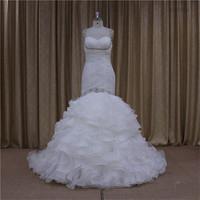 New super beading organza tea length wedding gown