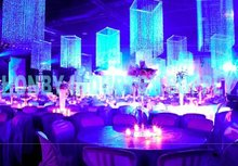 Crystal bead chain curtain as party decoration
