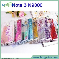 Best Price quicksand case for samsung galaxy note 3, for Note 3 N9000 quicksand phone Case