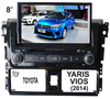 (for Toyota Vios & Yaris 2014) 2 din 8 inch car dvd player with GPS