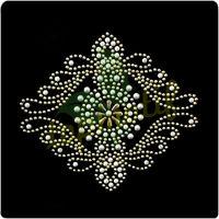 Nailhead Flower Iron On Crystal stone for dress