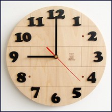 Multifunctional octagonal wooden wall clock for wholesales