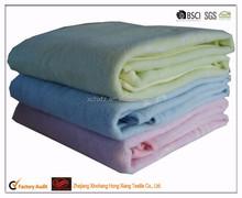 Hot sale 100% organic cotton weave plain baby blanket