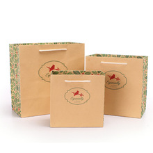 china manufactures customized christmas promtional fancy paper gift bag