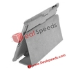 Folio Carbon Fiber Leather Cover for Apple iPad 2