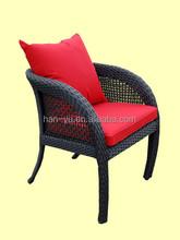 China foshan pe ratan furniture PE wicker chairs outdoor PE patio chair