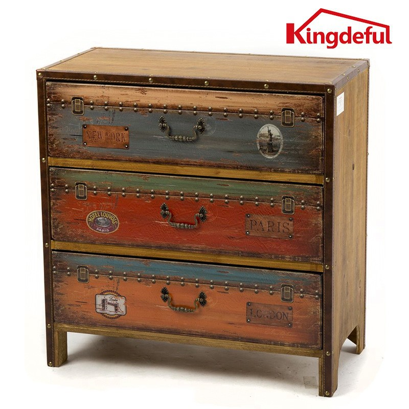 Antique drawers leather wooden furniture home furniture for Wooden home furnichers