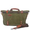 Vintage canvas tote handbag with single long strap