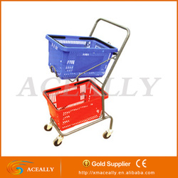 supermarket shopping basket trolley for sale