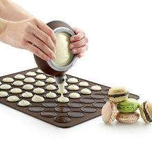 De silicona del molde macaron kit de decoración de pasteles de boquillas y herramienta de silicona para hornear esteras