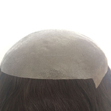 Elegant-wig Virgin Human Hair Piece Custom Size 7x7 Invisible Thin Skin Women Hair Toupee