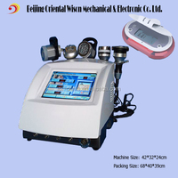 5 handles vacuum ultrasound cavitation led rf home use skin care machine