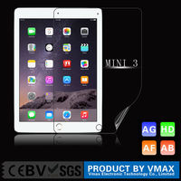 7.9INCH 2014 Top Sale Anti-UV HD Clear Anti Fingerprint LCD Monitor PET screen protector for iPad mini 3