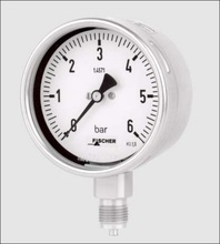 MA 13 Bourdon Tube Pressure Gauge