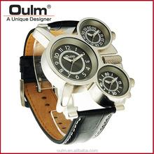 Oulm factory multi zone watch, wrist watches hotsale, men watch quartz