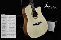Amari cutaway Acoustic guitar AM-4188C ,sakura guitars