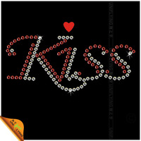 Factory made wholesale kiss hot fix motif for t shirts