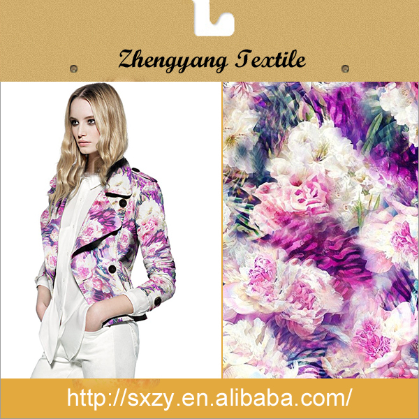 Woven polyester fabric eco-friendly custom printed 100% polyester fabric