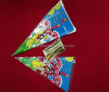 Triangle plastic bag for candy packing