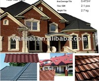 high quality colorful sand coated concrete roof tile price,lightweight roof materials