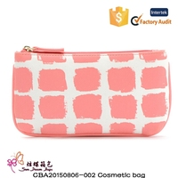 New Style PU Leather Cosmetic Bag Wash Makeup Toiletry Bag For Women