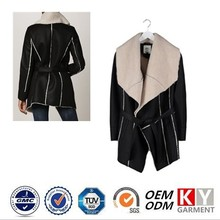 women's outerwear black mature leather fur jackets