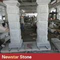 hueco de granito natural de la columna de piedra