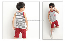 summer children's vest clothing set for boys 6-14 years old