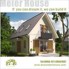 light steel structure prefab wooden house
