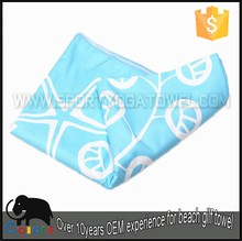 Logo sublimation print promotion gift beach stock towel