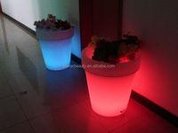 outdoor Hotel Decoration Colorful Led Lighting Flower Pots solar led flower pot light