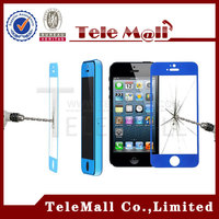 For iphone 5 G 5g 5 C 5c 5 S 5s Tempered Glass Screen Protector ip 5 5s 5c Color protective film With Retail Package 2014 New