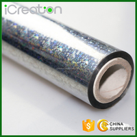 Laser CAT EYE Silver Hot Stamping Foil Roll Based on PET for Textile/Clothing/T-Shirt/Fabrics for Wholesale