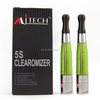 Top 10 e cigarette atomizer 5S dual coil ce4 clearomizer with airflow control 8 color available
