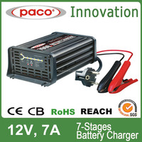 12V 7Amp CE Approved Intelligent Car Battery Charger /Portable Electric Vehicle Battery Charger